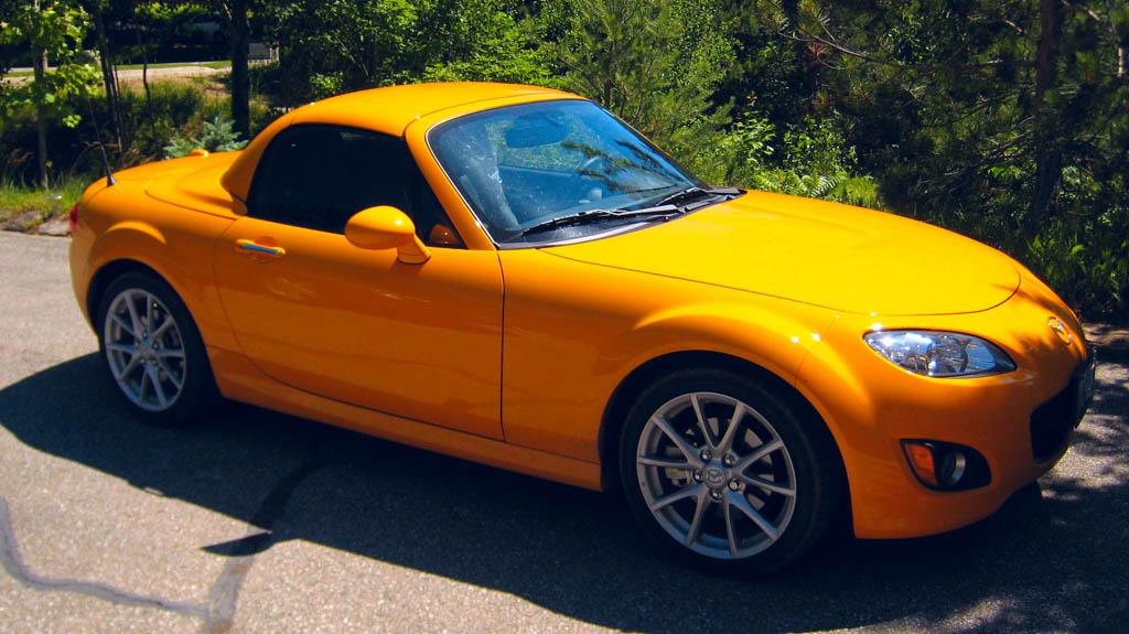 Mazda Miata Hardtop. Hardtop Mazda Miata with funky