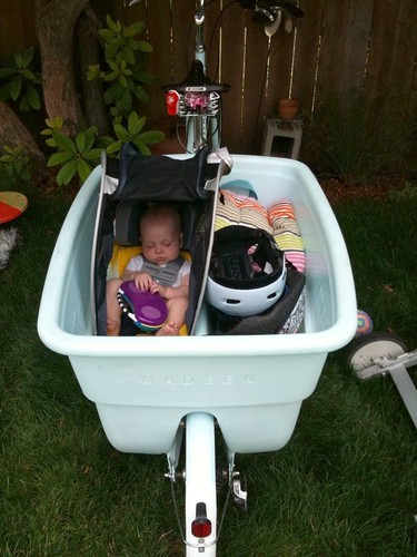 Totcycle Family Biking Diy Infant Seat On A Madsen