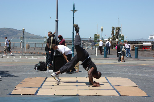 Breakdancing at Fishermans Wharf