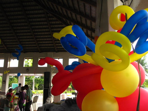 colorful balloons at enrico's party
