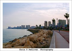 Mersin Coastline (CTPPIX.com) Tags: travel vacation canon turkey 350d xt coast rocks mediterranean urlaub turkiye palmtrees coastline mersin condos palmiye akdeniz turchia turkei icel ctpehlivan christpehlivan ctppix