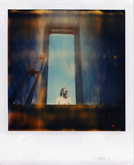 (Raymond Molinar) Tags: camera film ferry polaroid sx70 island spain time ethan alicante land expired zero fowler tabarca