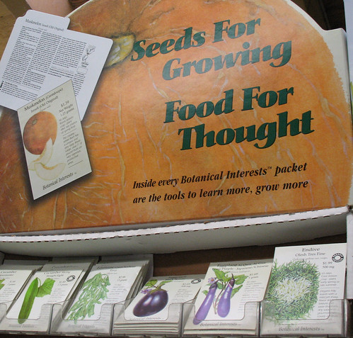 botanical interests seeds for growing food for thought