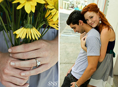 Katy & Joey ({SNS Photography}) Tags: flowers boy summer portrait woman flower cute love girl beautiful fashion female daisies fun bride engagement couple colorful pretty dress ring diamond dresses freelancephotography 50d esession orlandophotography snsphotography
