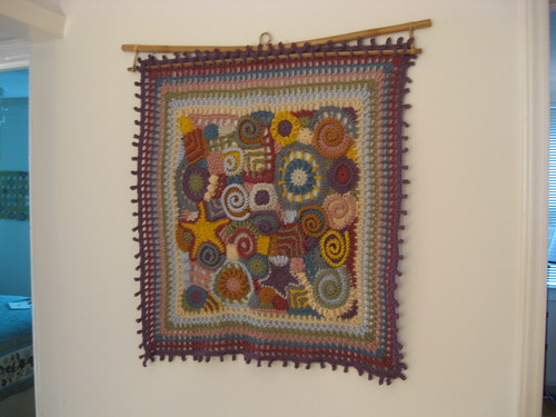 contest blanket on the wall