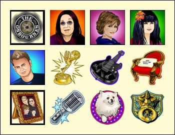 free The Osbournes slot game symbols