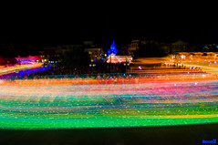 A Million Streams of Musical Light (Explored) (Tom.Bricker) Tags: longexposure vacation architecture night america photoshop landscape orlando nikon raw nightshot florida tripod wideangle disney mickey explore disneyworld wishes mickeymouse characters nikkor wdw dslr waltdisneyworld figment magical themepark magickingdom ionic waltdisney spectromagic orlandoflorida wdi lakebuenavista imagineering cinderellacastle colorsaturation ultrawideangle disneyresort nikondslr disneypictures photoshopcs3 disneypics waltdisneyimagineering disneyphotos wedenterprises wdwfigment tombricker vacationkingdom vacationkingdomoftheworld disneyworldpictures waltdisneyworldpictures spectromagiclongexposure