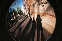 shadows in fisheye (ÇaD) Tags: street paris shadows chad fisheye cagdas ozturk deger cagdasdeger