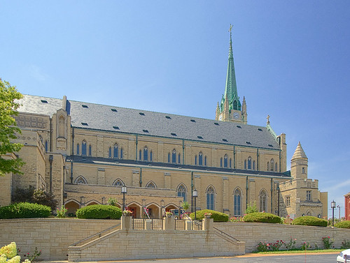 Roman Catholic Cathedral of Saint Peter, in Belleville, Illinois, USA - exterior