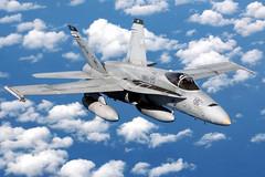 [フリー画像] [航空機/飛行機] [軍用機] [戦闘機] [F/A-18 ホーネット] [F/A-18 Hornet]      [フリー素材]