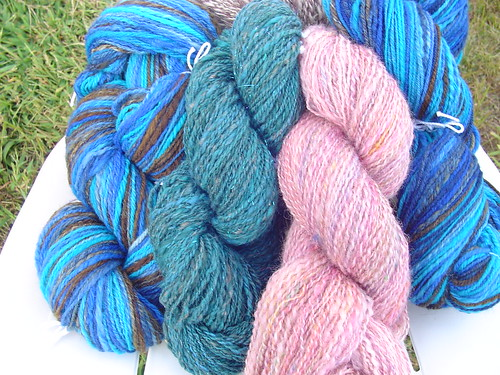 Bundle of handspun fibers 2009 summer