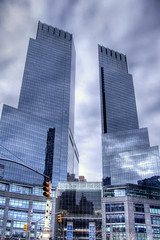 Time Warner Center | HDR (carlos_seo) Tags: nyc newyorkcity usa ny newyork building digital america photography photo high flickr dynamic time centralpark manhattan united picture center midtown warner finepix fujifilm states range 2009 hdr skyscaper 3xp photomatix s9600