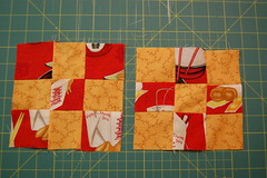 October block 1 (eustella) Tags: quilting 9patch