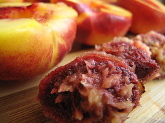 Pitted peaches