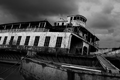 Abandoned (SS San Mateo) (MTF Reflections) Tags: old bw white black abandoned ferry contrast canon river washington san ship mark iii ss vessel 1d shore beached wreck ferries sanmateo decayed meteo stmatthew wrotten