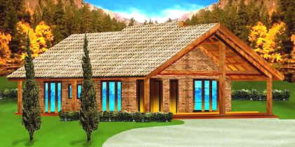 planta de casa de campo