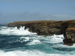 Rough September Sea At Yesnaby (orquil) Tags: wild scotland orkney rocks waves cliffs atlantic september coastline rough seas yesnaby visitorattraction orcades westmainland britishseascapes fz28
