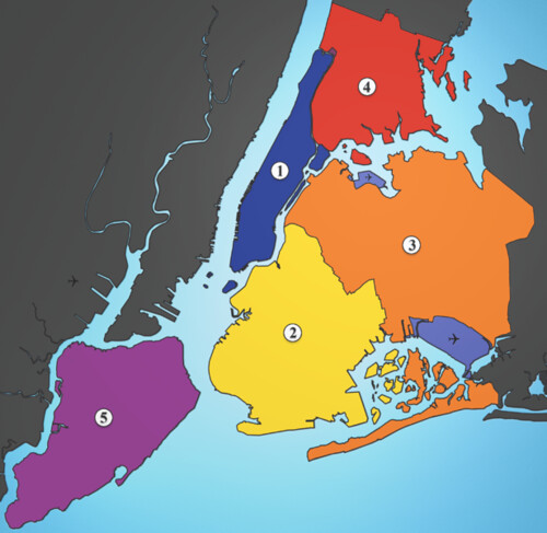NYC: Five Boroughs by trudeau