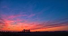 sunset in the polder near Biervliet (expatwelsh) Tags: sunset canon polder g10 biervliet gorillapod topazadjust topazdenoise topazdetail