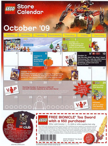 LEGO STORE CATALOG October 2009