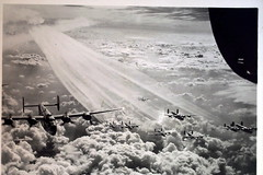 Vapor Trails over Yugoslovia, March 1945 (1Jimbo1) Tags: sky clouds airplane air liberator yugoslavia b24 wwll greatestgeneration anawesomeshot