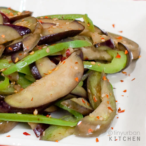 Dry Fried Eggplant and Peppers
