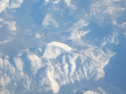 Half Dome from our Airplane