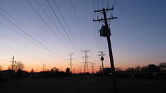 Sunrise in Morton Grove Illinois. March 2009.