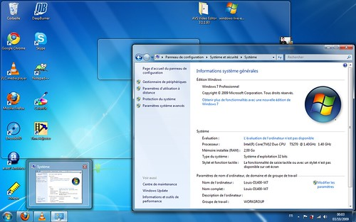 Prévisualisation fenètres Windows 7