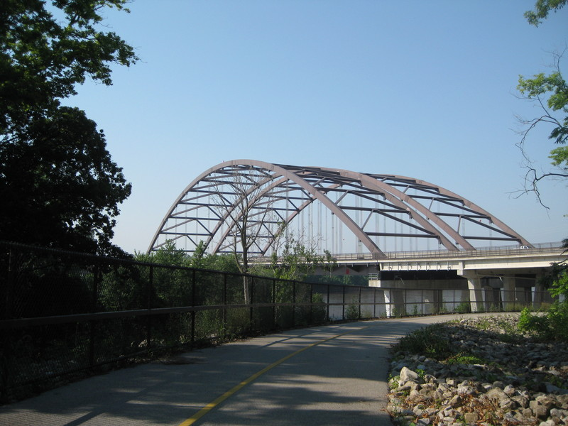 Double Bridged Bike Path