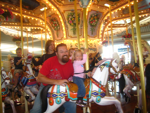 Dad's and Eva on the Carousel