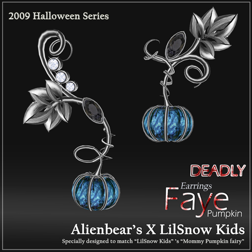Faye deadly Pumpkin earrings