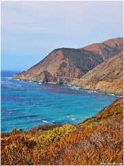 HWY 1 on a warm October Day! (Little Italy Photography) Tags: california mountains nature weather landscape coast haze nikon rocks surf waves pacific cloudy sunny highway1 pacificocean pacificcoast partlycloudy californiahighway1 nikond60 projectweather