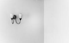 White Light(n)ing (AMooseinBrighton) Tags: light blackandwhite bw white black monochrome wall grey lights blackwhite nikon october empty sconce emptiness d700 nikond700 amooseinbrighton krismitchell