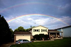 001. Happy Home (prenetic) Tags: home rainbow michigan doublerainbow waterford
