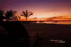 ... dawn awaits no one (newkleus00) Tags: city morning sunset sea sky orange beach water sunrise dawn early sand alone philippines cebu imperialpalace mactan alemdagqualityonlyclub garbongbisaya