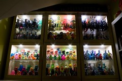 Illuminated Japanese toy collection (fun9us) Tags: door ikea glass monster toy toys japanese lights cabinet illuminated godzilla collection shelves mecha kaiju gamera hedorah mechagodzilla hedoran matango hedolan