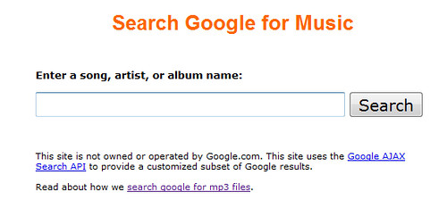 fake Google music search