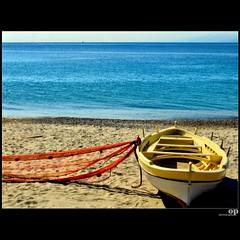 November Beach (Osvaldo_Zoom) Tags: november autumn sea fall net beach colors canon boat sand mare fishermen autunno plage calabria spiaggia plaja g7 reggiodicalabria messinastrait
