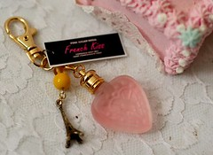 perfume key chain (pinksugarninja) Tags: pink paris france cake french gold vegan perfume handmade lace vanity gifts homemade boudoir etsy baroque bows marieantoinette letthemeatcake