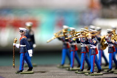 The Marching Band (kevin dooley) Tags: arizona white macro men phoenix hat closeup america canon toy march fairgrounds us costume outfit state military arts band trumpet craft sigma az fair plastic american utata figure instrument marchingband figurine tuba f28 conductor phx maching 105mm arizonastatefair horm 40d