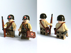 Medic! (Milan CMadge) Tags: world 2 two war lego wwii ww2 medic helmets bricklink brickarms mmcb