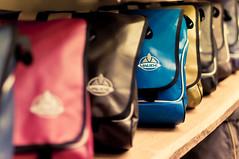 Bags (christian.senger) Tags: blue red digital shopping germany bag geotagged nikon europe dof availablelight indoor heidelberg lightroom d300 vaude christiansenger:year=2009