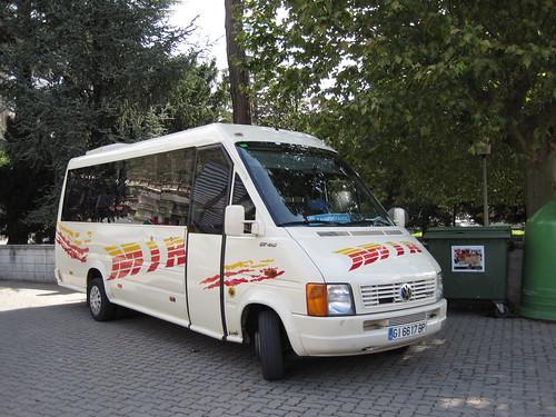 Autobus de Can Mir a l'estació d'autobusos de Ripoll (Girona)
