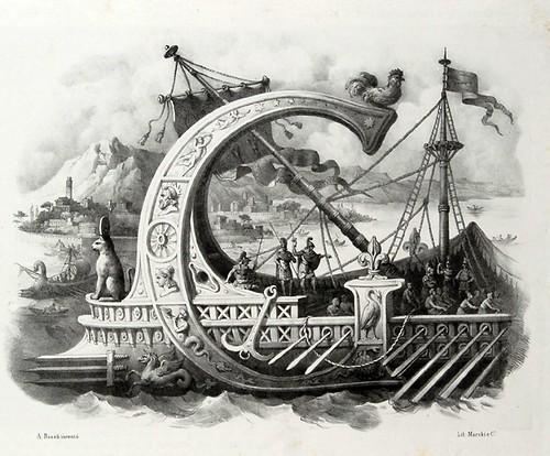 007-Letra G-Alfabeto pittorico- Antonio Basoli 1839-© Accademia di Belle Arti di Bologna