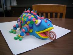 chameleon (Meg's Cake Gallery) Tags: birthday cake lizard birthdaycake iguana chameleon lizardcake animalcake