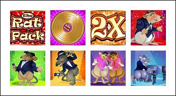 free The Rat Pack slot game symbols