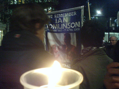 Candlelight vigil for Ian Tomlinson
