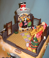 Christmas - Top View 1 (Geny J) Tags: santa christmas xmas chimney people house snow tree cakes beer coffee cake stairs reindeer fire person log snowman model cabin place tea sleep father holly elf presents present rudolph stocking sled sleigh edible bungalow fondant geny sugarpaste genys