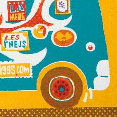 Race Car screenprint detail